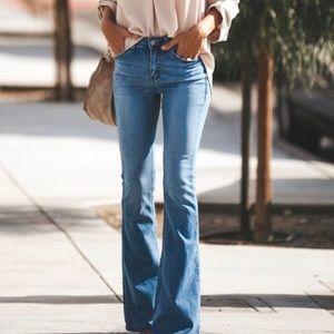 BCBGMaxazria Tanya Flare Jeans Frayed Hems 26